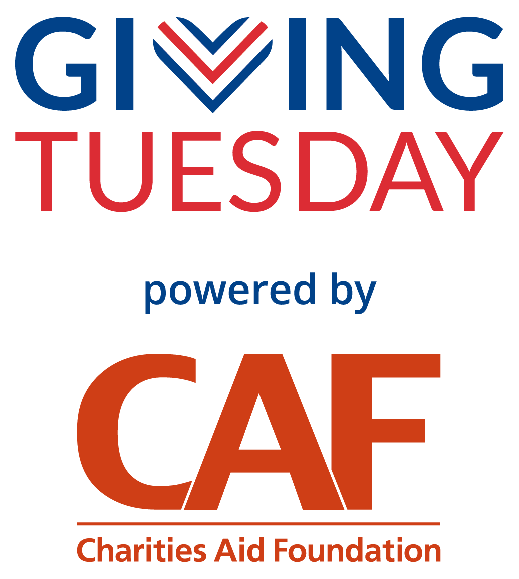 Giving Tuesday logo powered by CAF OPTION 2