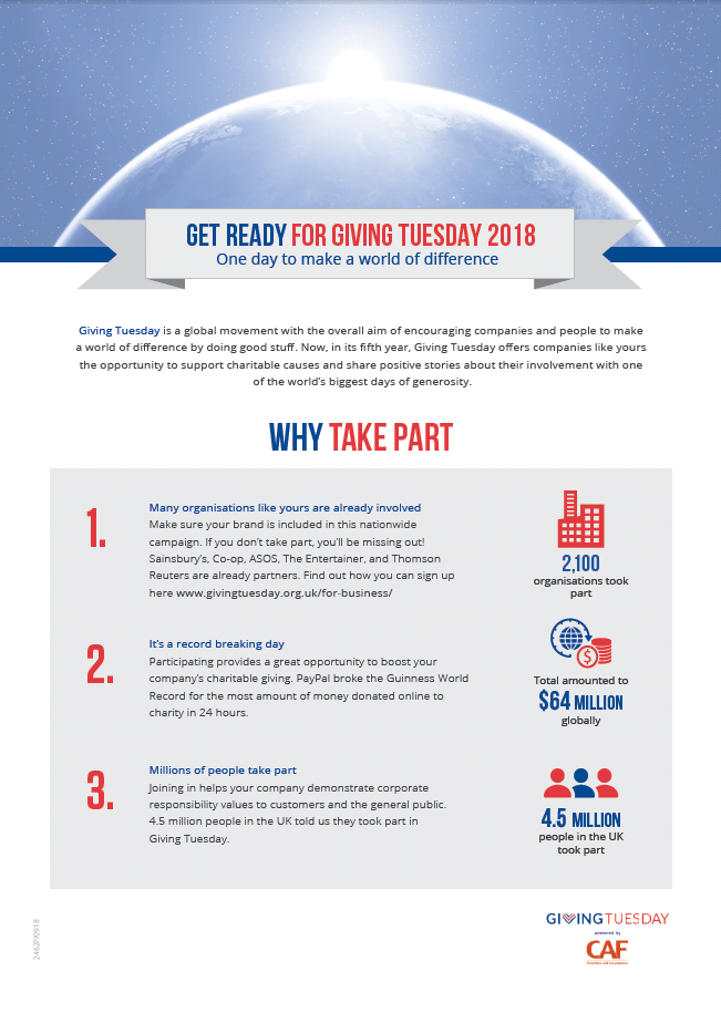 Why take part in Giving Tuesday 2018