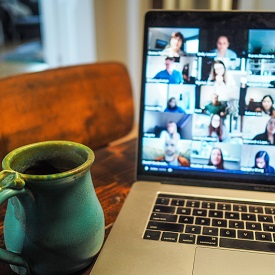 Laptop with video call