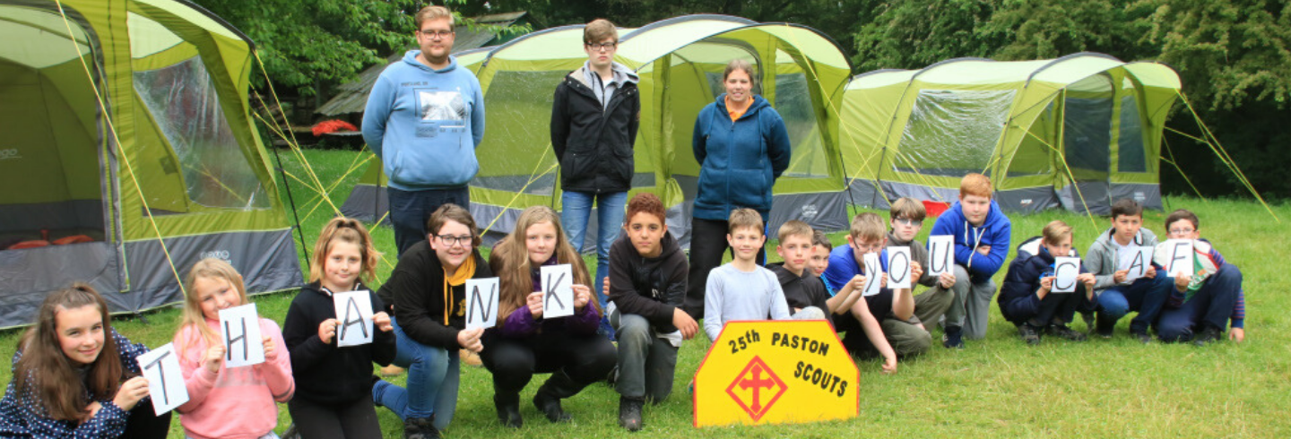 CAF Charitable Legacies case study 25th Peterborough (Paston) Scout Group