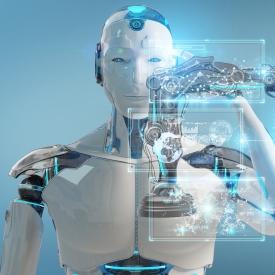 AI robot 275 blue