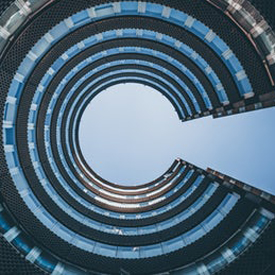spiral round building unsplash