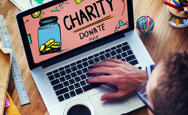 Giving to charity online