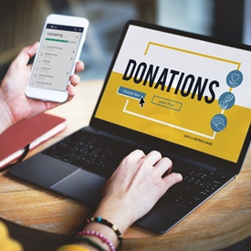 Donations to charity spring 2020