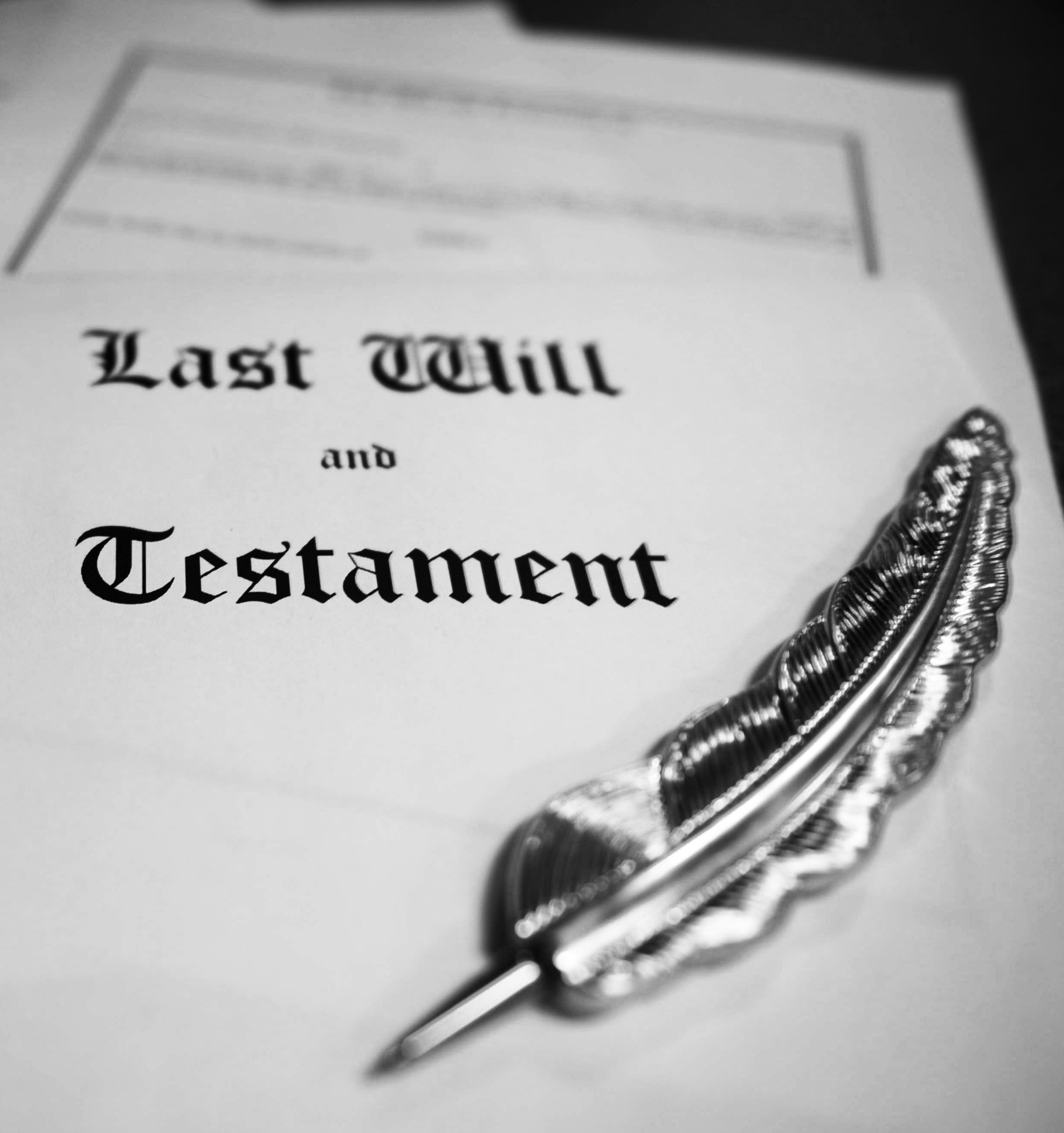 Last will and testament cropped