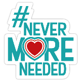 never more needed logo