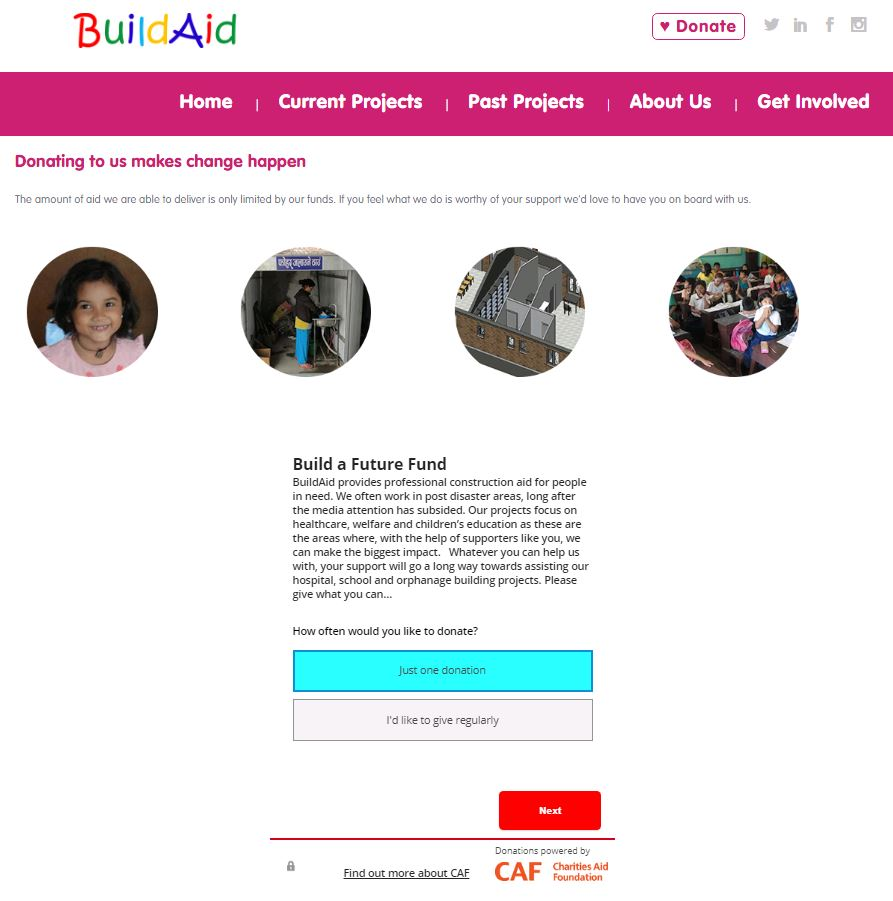 BuildAid Donation Page