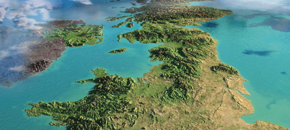 Aerial view of the United Kingdom