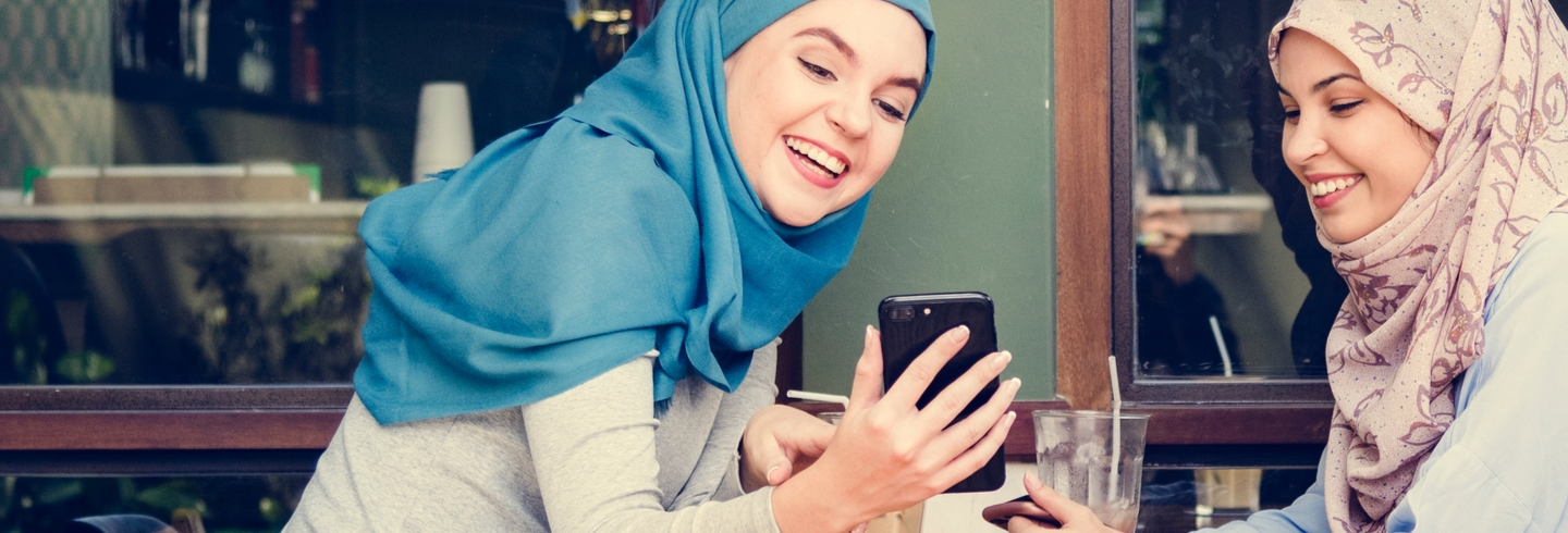 Muslim women donating online