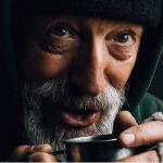 Homeless man smiling 150x150