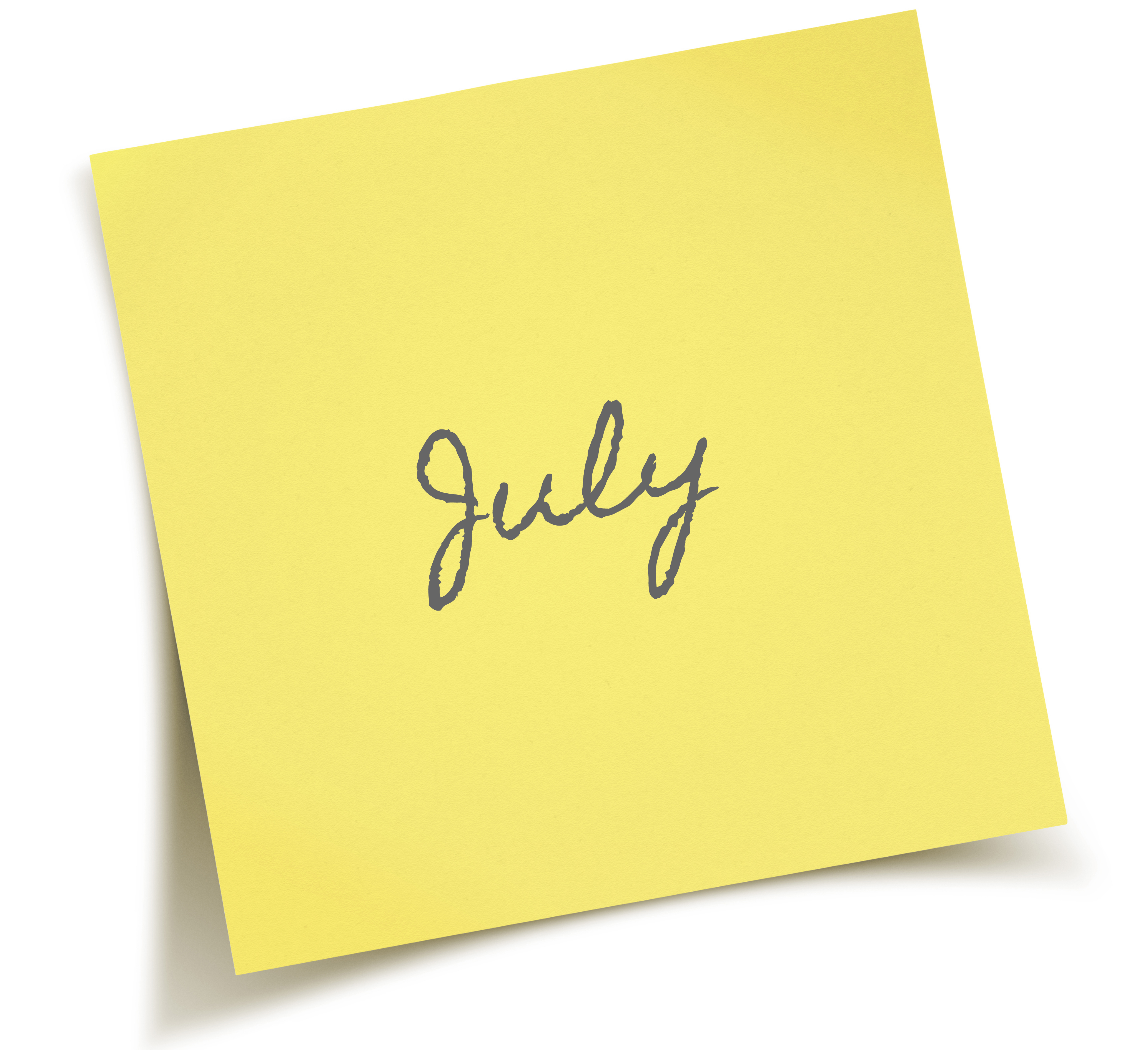 July sticky note