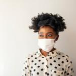 Lady wearing face mask