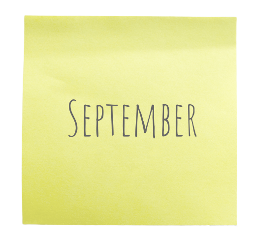 September sticky note