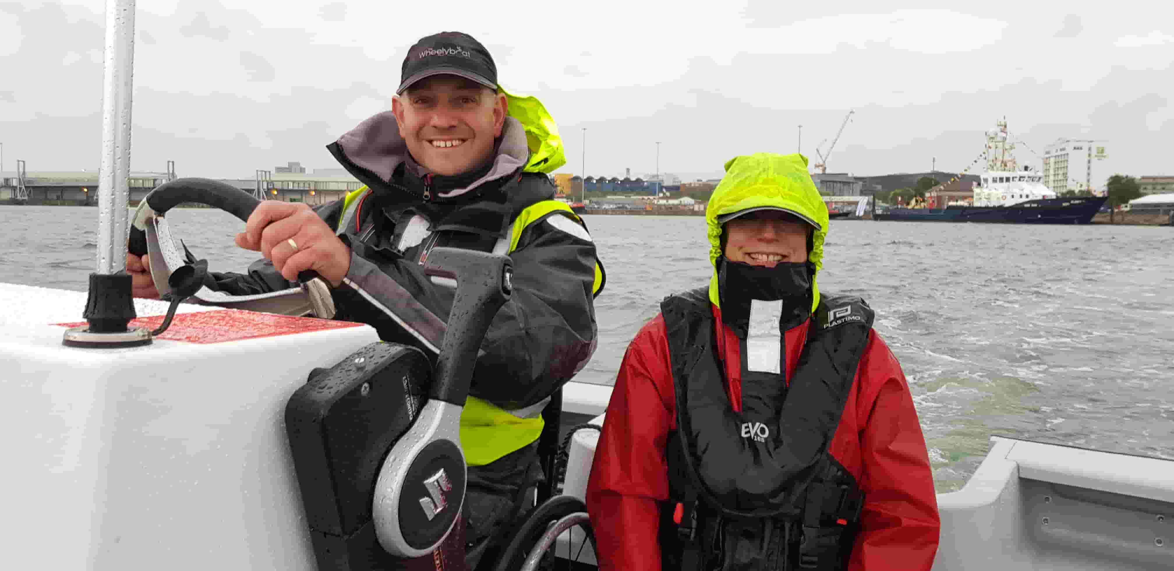 Andy and Lucy from Wheelyboat Trust