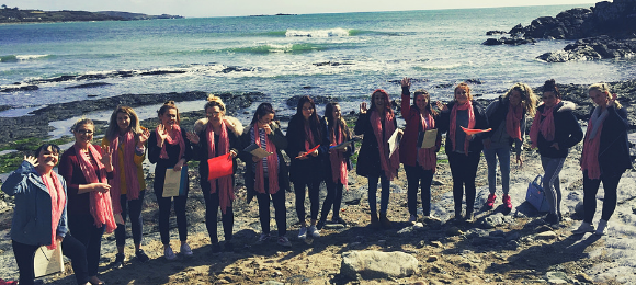 Young mums by the seaside who are supported by  WILD Young Parents' Project in Cornwall