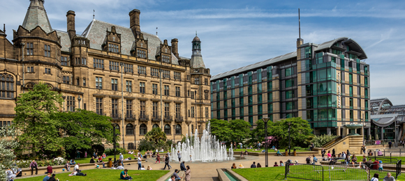 Sheffield Peace Gardens 580 260
