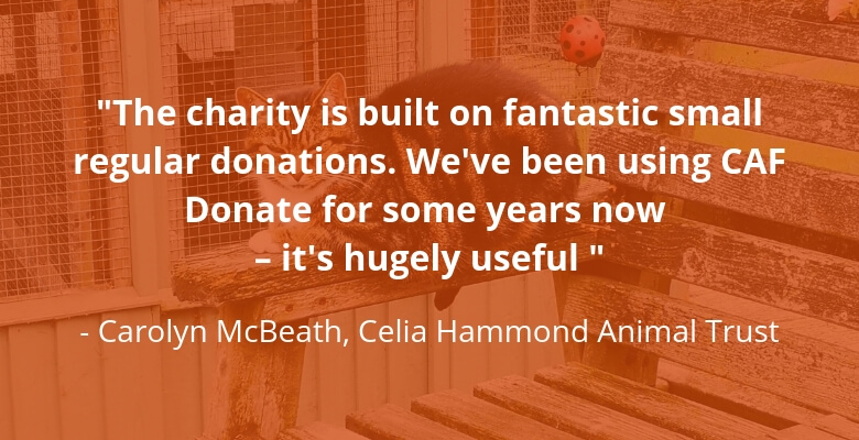 Animal trust quote for CAF Donate