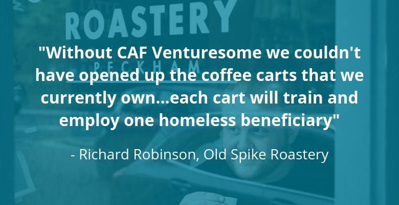 Old Spike Roastery quote for CAF Venturesome