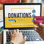 Person donating online