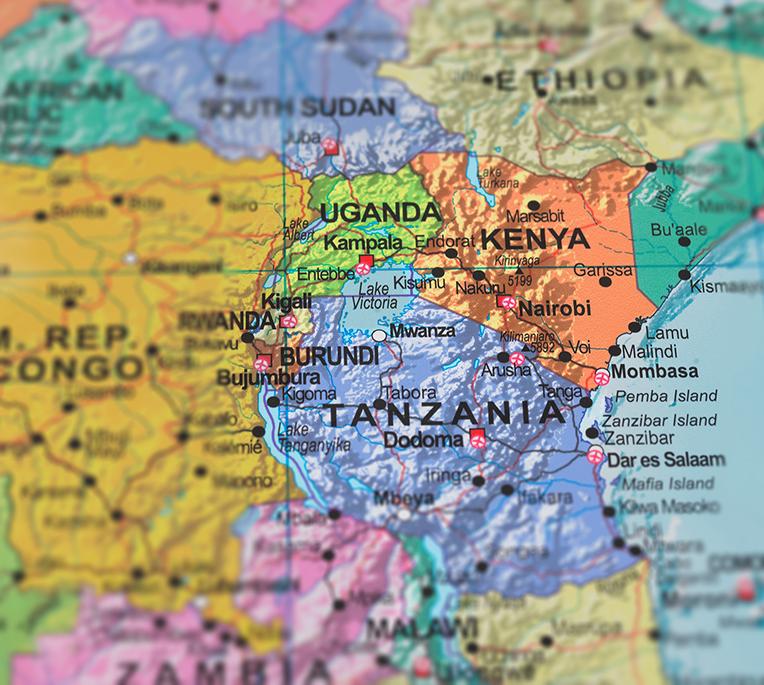 Kenya, Uganda and Tanzania
