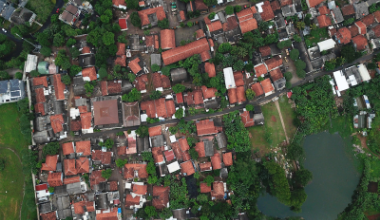 Aerial view community