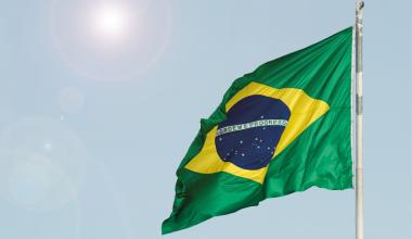The Brazilian flag CAF