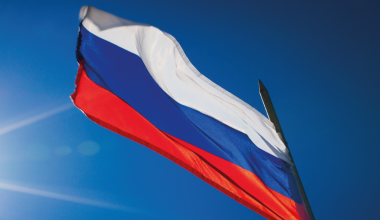 The Russian flag CAF