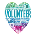 Donate your time by volunteering
