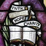 faith hope and charity stained glass