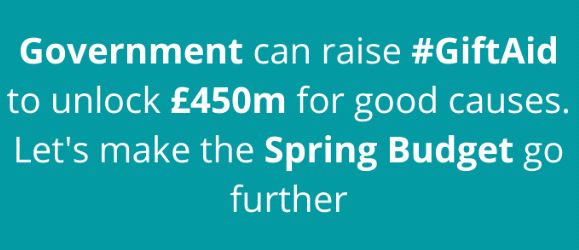 Gift Aid spring budget 2021