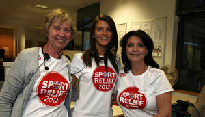 CAF staff in the Sport relief call centre